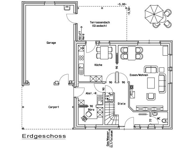 Bauzeichnung Garage einfamilienhaus hoogstede nordhorn grafschaft bentheim lingen